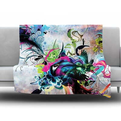 Streaming Eyes by Mat Miller Fleece Throw Blanket Size: 60 H x 50 W x 1 D