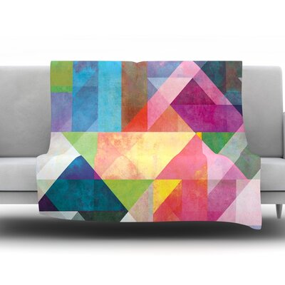 Color Blocking by Mareike Boehmer Fleece Throw Blanket Size: 80 H x 60 W x 1 D