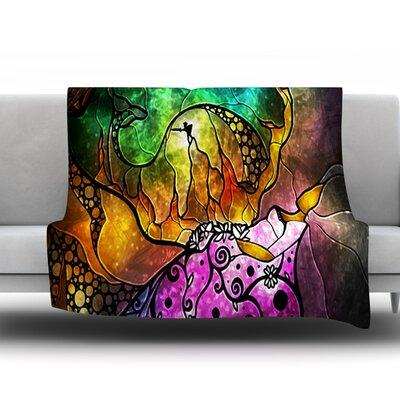 Sleeping Beauty by Mandie Manzano Fleece Throw Blanket Size: 40 H x 30 W x 1 D