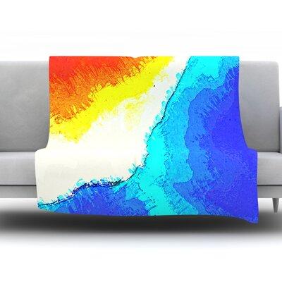 Amalfi Coast by Oriana Cordero Fleece Throw Blanket Size: 90 H x 90 W x 1 D