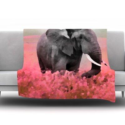 Ele-Phant by Oriana Cordero Fleece Throw Blanket Size: 90 H x 90 W x 1 D
