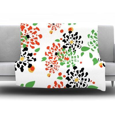 Multi Bouquet by Sonal Nathwani Fleece Throw Blanket Size: 90 H x 90 W x 1 D