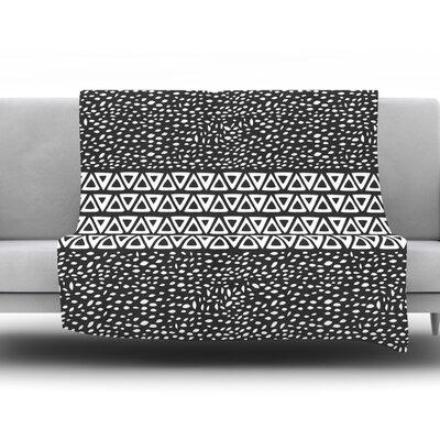 Wind Night by Pom Graphic Design Fleece Throw Blanket Size: 90 H x 90 W x 1 D