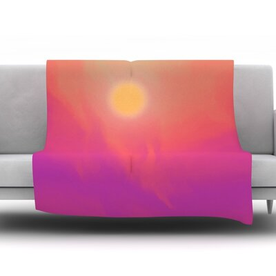 Yosemite Dawn by Michael Sussna Fleece Throw Blanket Size: 40 H x 30 W x 1 D