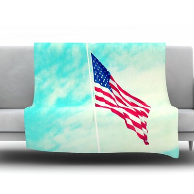 USA Colors by Robin Dickinson Fleece Throw Blanket Size: 40 H x 30 W x 1 D