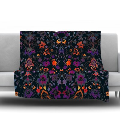 Bali Tapestry by Nikki Strange Fleece Throw Blanket Size: 80 H x 60 W x 1 D
