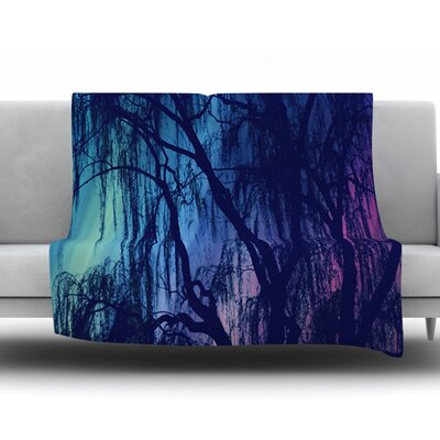 Weeping by Robin Dickinson Fleece Throw Blanket Size: 40 H x 30 W x 1 D
