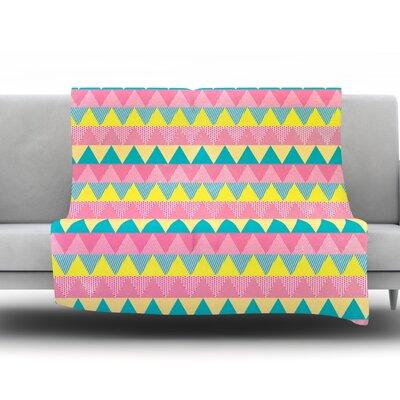 Triangles by Louise Machado Fleece Throw Blanket Size: 80 H x 60 W x 1 D
