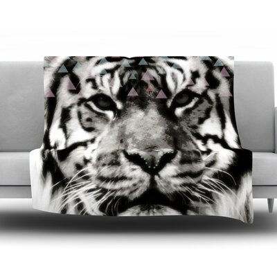 Tiger Face by Suzanne Carter Fleece Throw Blanket Size: 80 H x 60 W x 1 D