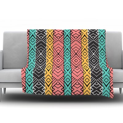 Artisian by Pom Graphic Design Fleece Throw Blanket Size: 60 H x 50 W x 1 D
