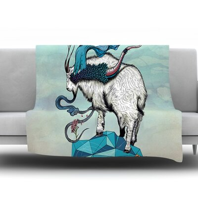 Seeking New Heights by Mat Miller Fleece Throw Blanket Size: 90 H x 90 W x 1 D