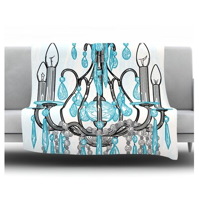 Chandelier by Sam Posnick Fleece Throw Blanket Size: 40 H x 30 W x 1 D