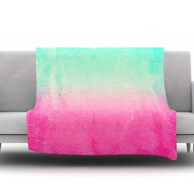 Sunny Melon by Monika Strigel Fleece Throw Blanket Size: 80 H x 60 W x 1 D