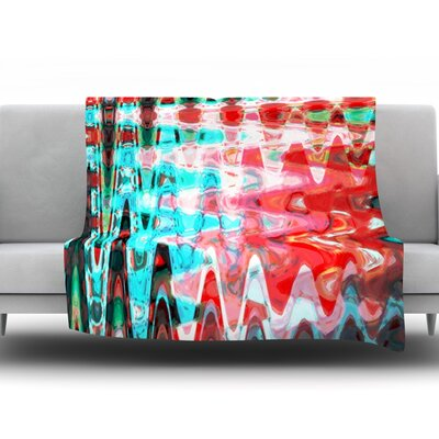 Aqua Wave by Suzanne Carter Fleece Throw Blanket Size: 40 H x 30 W x 1 D