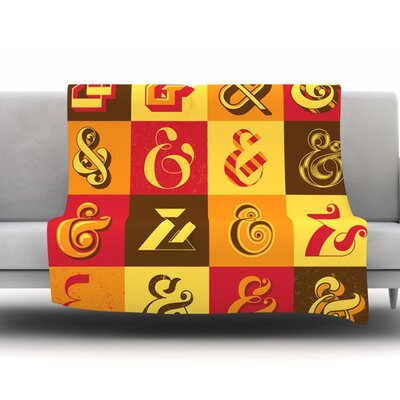 Ampersands by Roberlan Fleece Throw Blanket Size: 80 H x 60 W x 1 D