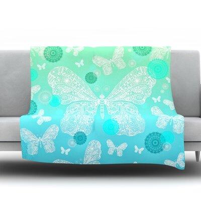 Butterfly Dreams by Monika Strigel Fleece Throw Blanket Size: 80'' H x 60'' W x 1