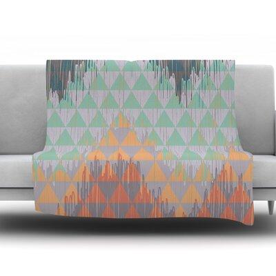 Ikat Geometrie by Nika Martinez Fleece Throw Blanket Size: 40 H x 30 W x 1 D