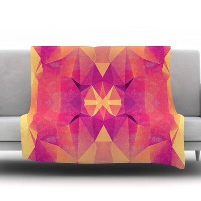 Retro Geometrie by Nika Martinez Fleece Throw Blanket Size: 40 H x 30 W x 1 D