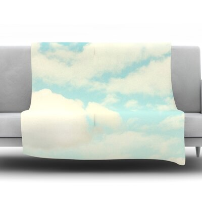 Clouds by Sylvia Cook Fleece Throw Blanket Size: 40 H x 30 W x 1 D