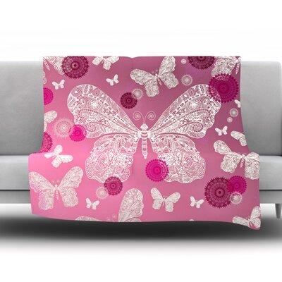 Butterfly Dreams by Monika Strigel Fleece Throw Blanket Size: 60'' H x 50'' W x 1