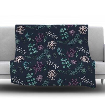 Flower III by Louise Fleece Throw Blanket Size: 40 H x 30 W x 1 D