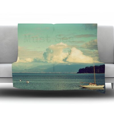 Must Sea by Robin Dickinson Fleece Throw Blanket Size: 60 H x 50 W x 1 D