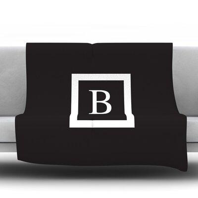 Monogram Solid Throw Blanket