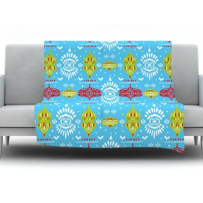 Deco Row by Miranda Mol Fleece Throw Blanket Size: 60 H x 50 W x 1 D
