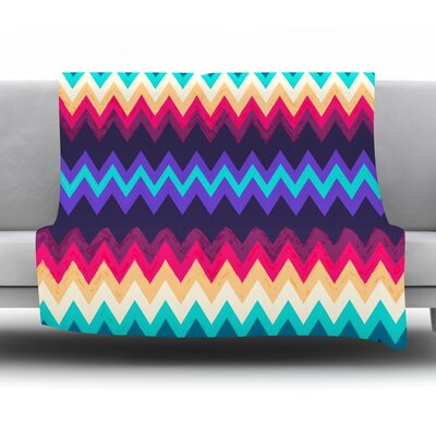 Surf Chevron Fleece Throw Blanket Size: 40 L x 30 W