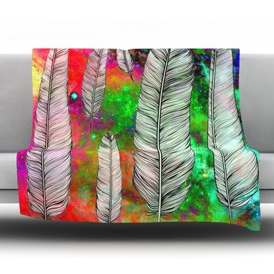 Feather by Suzanne Carter Fleece Throw Blanket Size: 90 H x 90 W x 1 D