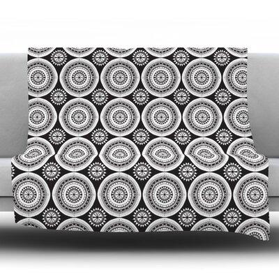 Circles by Nandita Singh Fleece Throw Blanket Size: 40 H x 30 W x 1 D