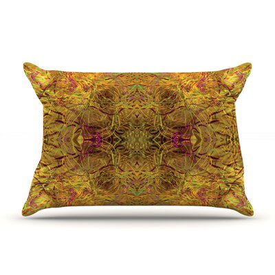 Goldenrod by Nikposium Featherweight Pillow Sham Size: King, Fabric: Woven Polyester
