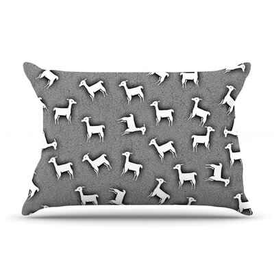 Llama Multi by Monika Strigel Featherweight Pillow Sham Size: Queen, Fabric: Cotton