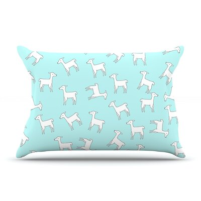 Baby Llama by Monika Strigel Featherweight Pillow Sham Size: King, Fabric: Woven Polyester