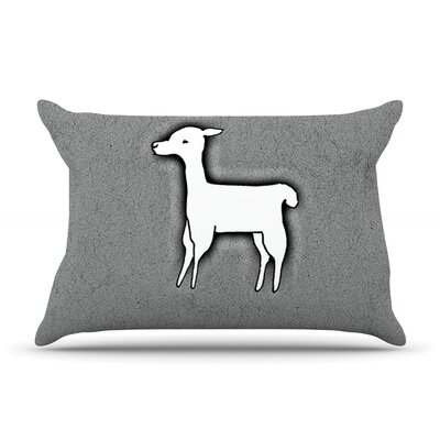 Llama One by Monika Strigel Featherweight Pillow Sham Size: King, Fabric: Woven Polyester