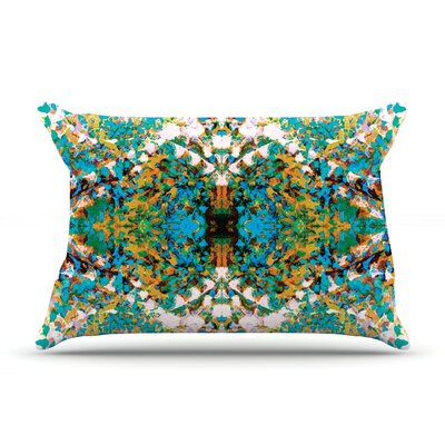 Nikposium Boysenberry Pillow Case Color: Blue/Teal
