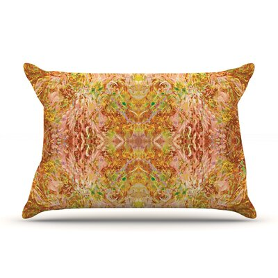Goldenrod II by Nikposium Featherweight Pillow Sham Size: King, Fabric: Woven Polyester