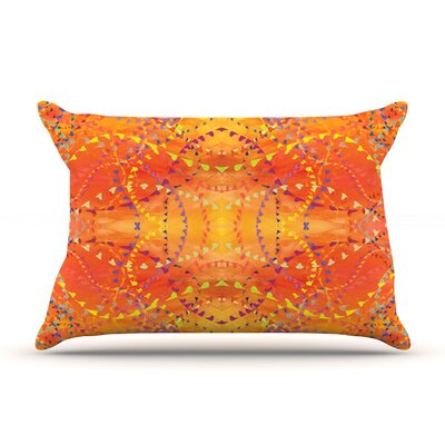 Nikposium Sunrise Orange Gold Featherweight Sham Size: Queen, Fabric: Woven Polyester