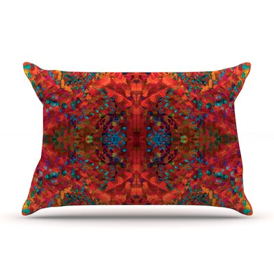 Nikposium Boysenberry Pillow Case Color: Orange
