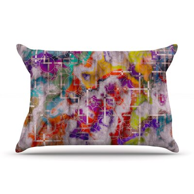 Michael Sussna Quantum Foam Rainbow Geometric Pillow Case