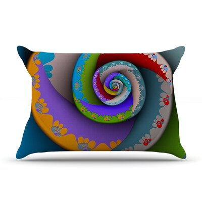 Michael Sussna Flor Essence Rainbow Spiral Pillow Case