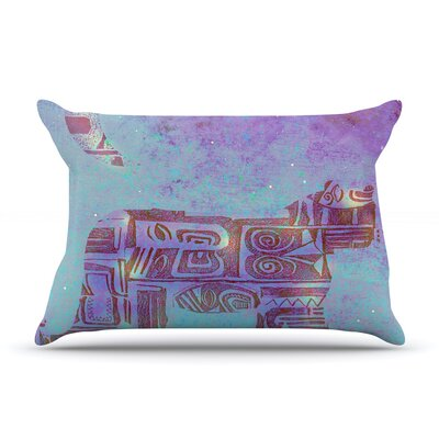 Panther at Night by Marianna Tankelevich Featherweight Pillow Sham Size: King, Fabric: Woven Polyester