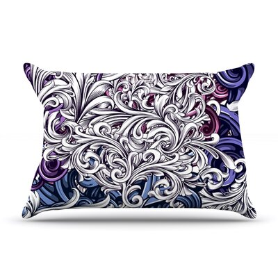 Celtic Floral I by Nick Atkinson Featherweight Pillow Sham Size: King, Fabric: Woven Polyester