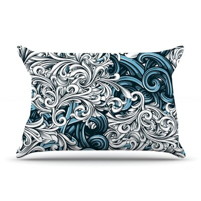 Celtic Floral II by Nick Atkinson Featherweight Pillow Sham Size: King, Fabric: Woven Polyester