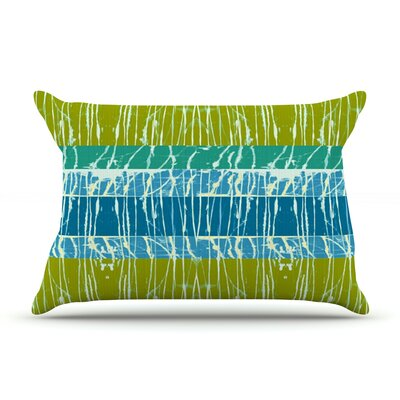 Ocean Splatter by Nina May Featherweight Pillow Sham Size: Queen, Fabric: Woven Polyester