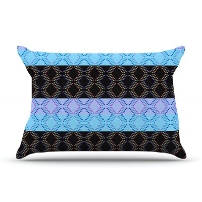 Nina May Denin Diamond Pillow Case Color: Blue/Black