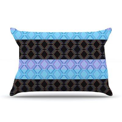 Nina May Denin Diamond Pillow Case Color: Blue/Black