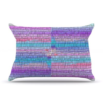 Drip Dye Strid by Nina May Featherweight Pillow Sham Size: King, Fabric: Woven Polyester