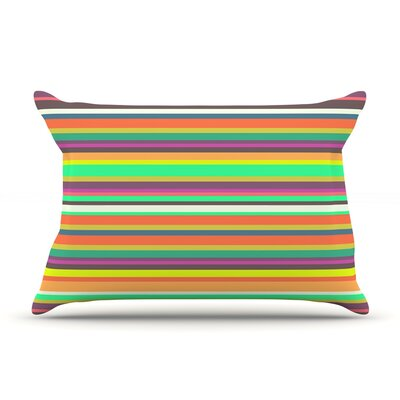 Pattern Play Stripes by Nandita Singh Featherweight Pillow Sham Size: King, Fabric: Woven Polyester