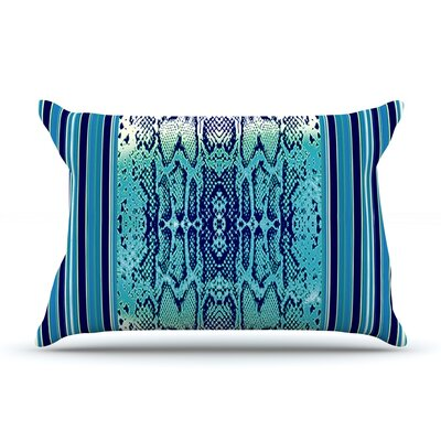Aqua Snake by Nina May Featherweight Pillow Sham Size: Queen, Fabric: Woven Polyester